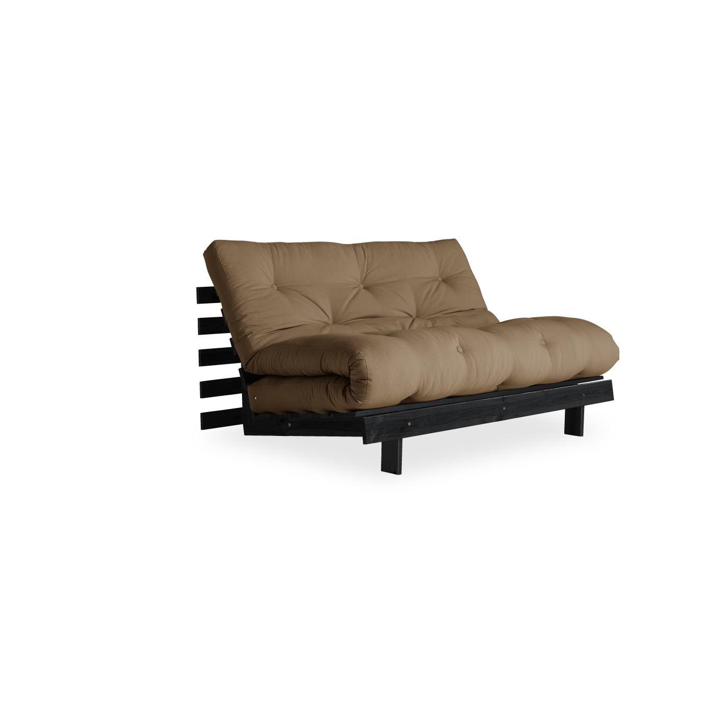 schlafsofa roots inkl futonmatratze liegefl che 140x200. Black Bedroom Furniture Sets. Home Design Ideas