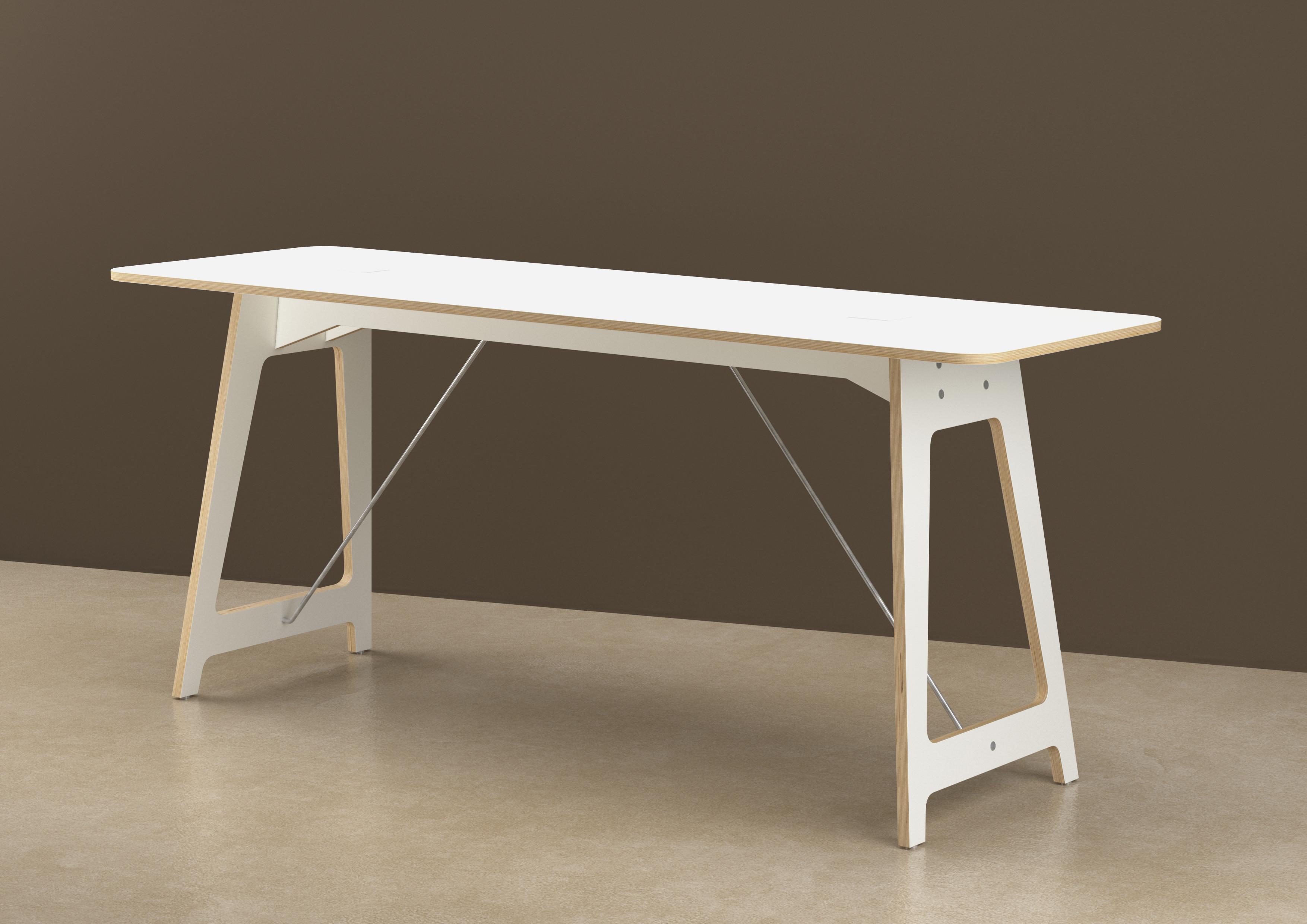 Vifian'Desk, meeting107, Tischblatt & Untergestell Sperrholz KH belegt 01