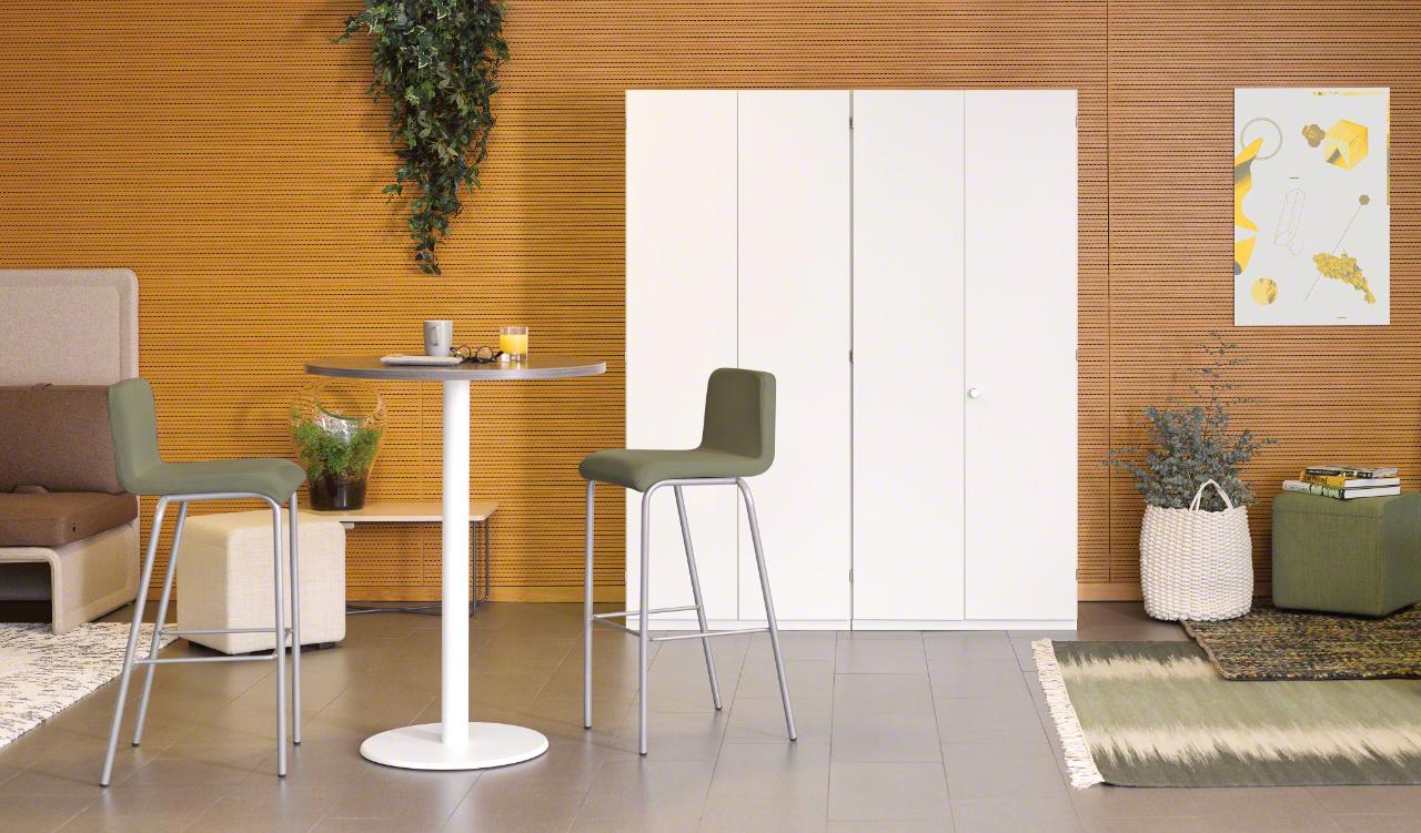 Table haute pour réunion ou cafétéria TOUCH DOWN de Steelcase 01
