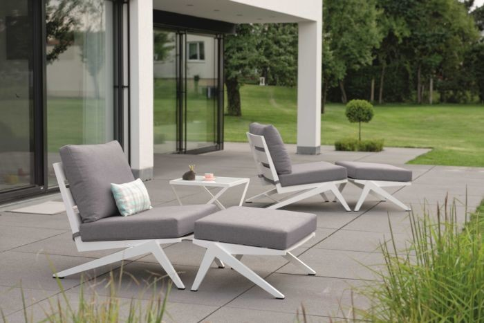 Lounge-Sessel mit Hocker Jackey 04