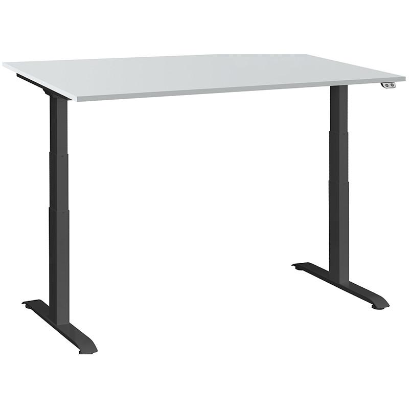 Schreibtisch / Stehpult elektrisch höhenverstellbar, Gestell schwarz 01