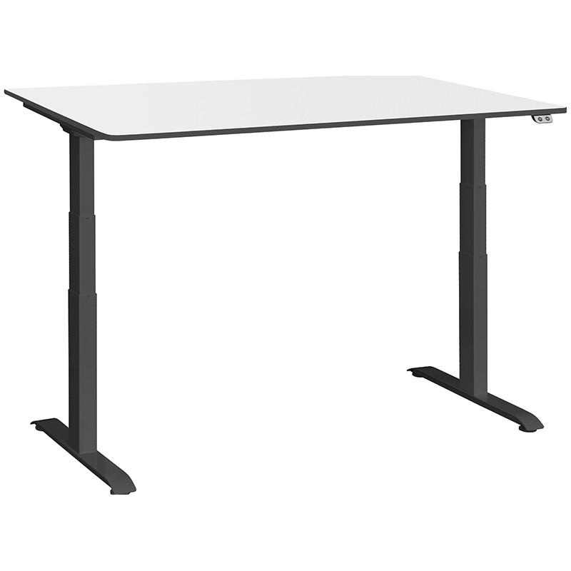 Schreibtisch / Stehpult elektrisch höhenverstellbar, Gestell schwarz 03