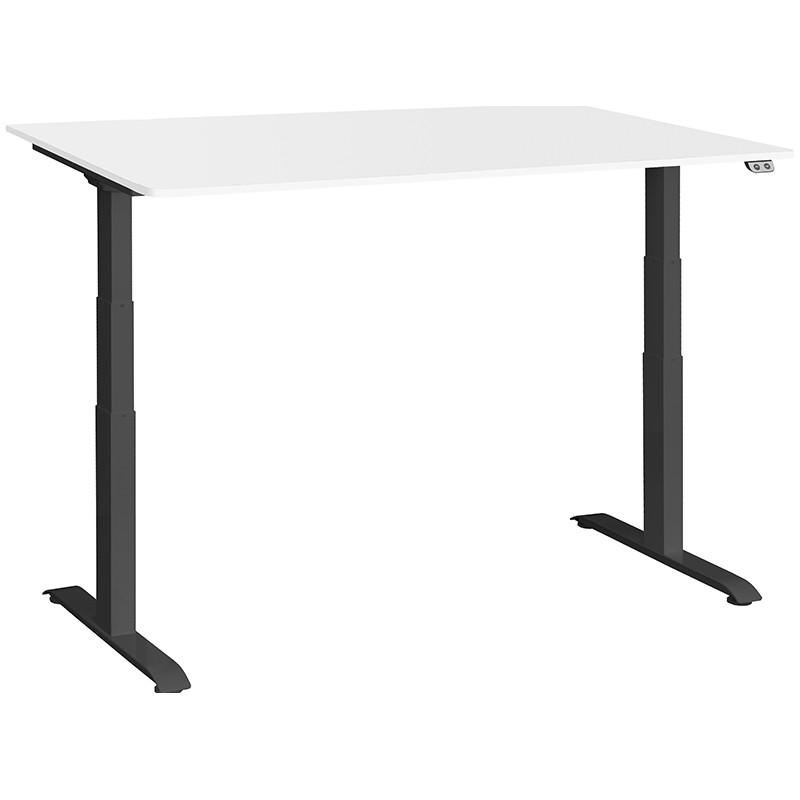 Schreibtisch / Stehpult elektrisch höhenverstellbar, Gestell schwarz 05