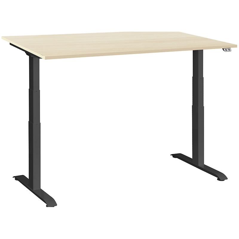 Schreibtisch / Stehpult elektrisch höhenverstellbar, Gestell schwarz 04
