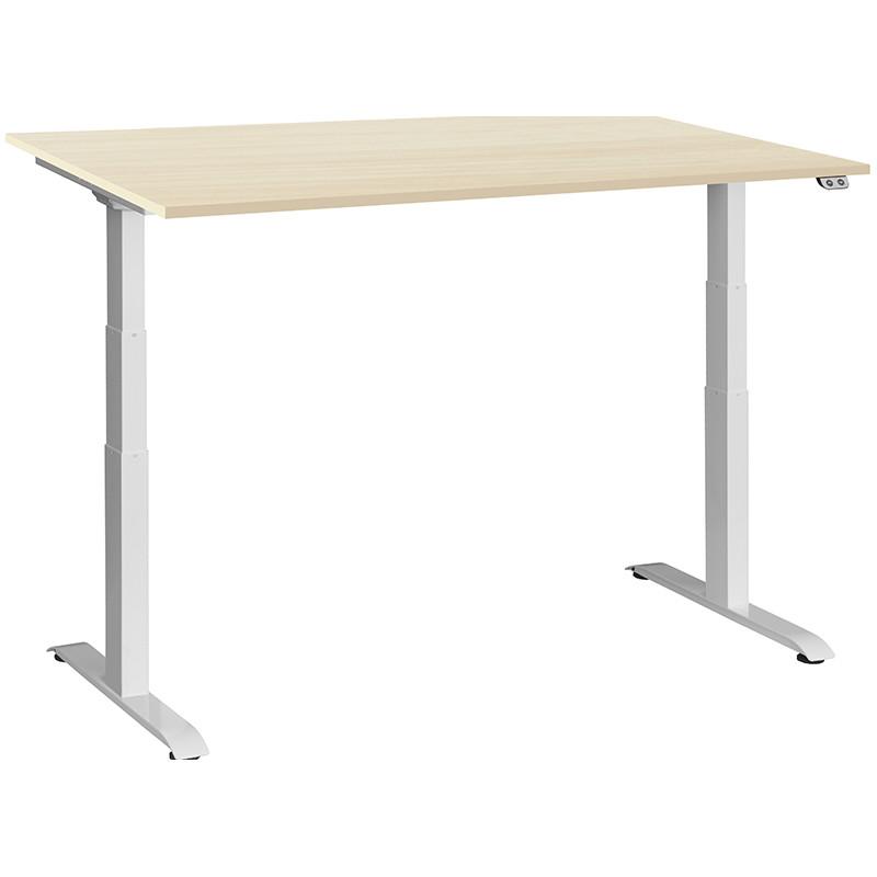 Schreibtisch / Stehpult elektrisch höhenverstellbar, Gestell weiss 07