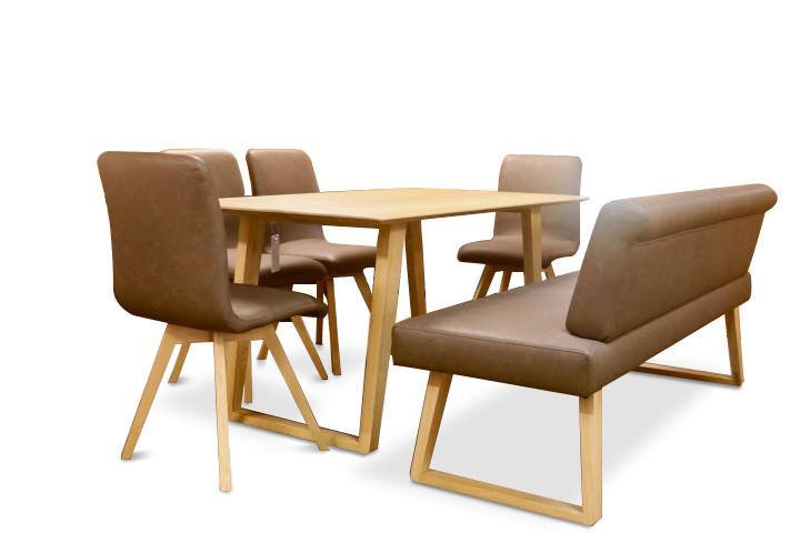 Tisch mit 4 Stühle und Sitzbank Schösswender Modell Malibù 02