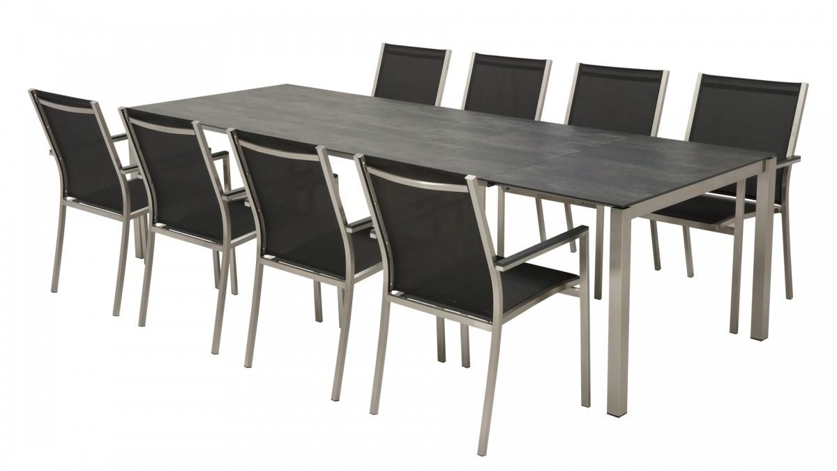 Keramik-Auszug-Tisch Garnitur MAXIM 220/280 (inkl. 8 Stk. Stühlen) 01