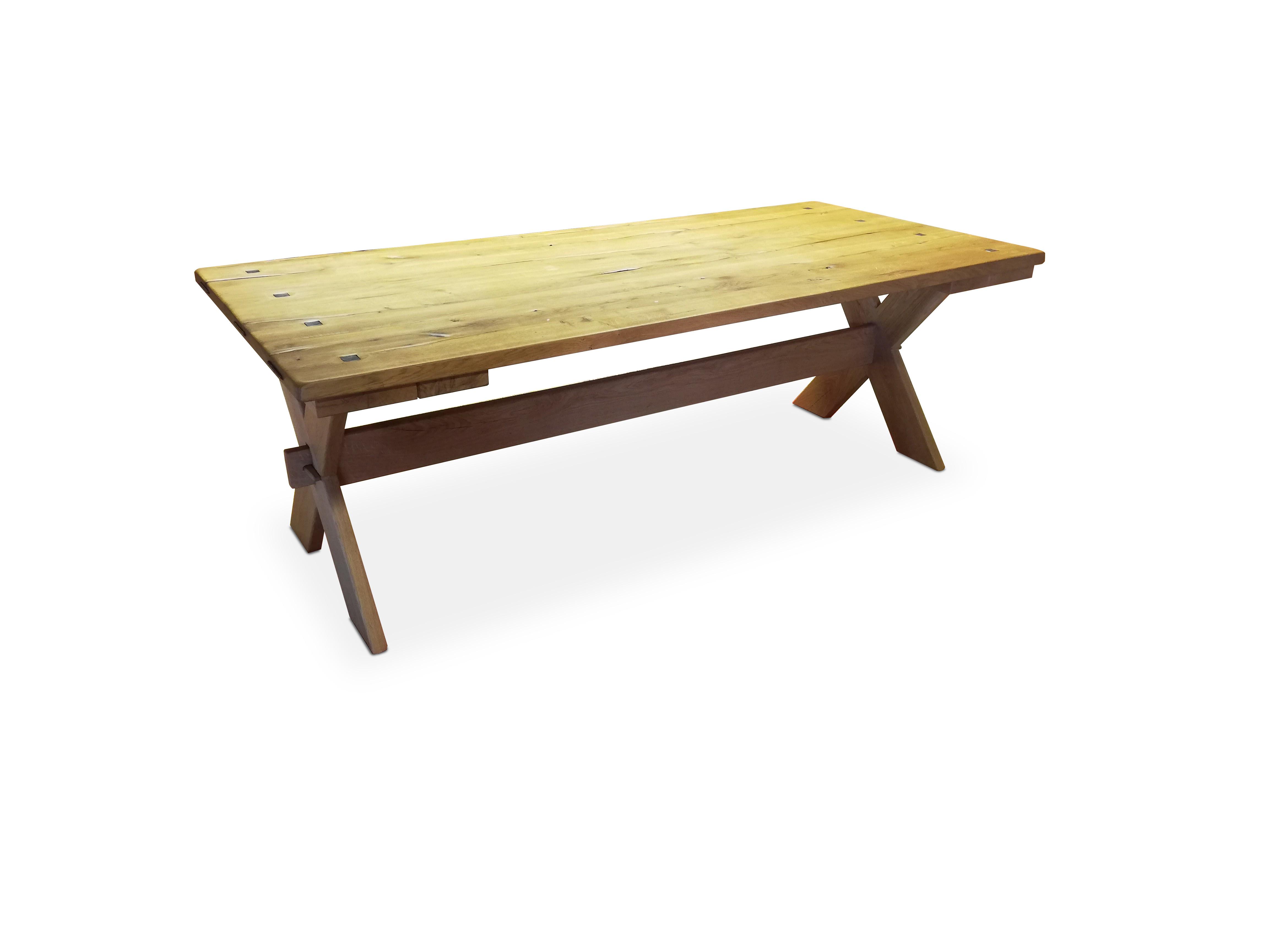 Table en chêne sauvage massif 06