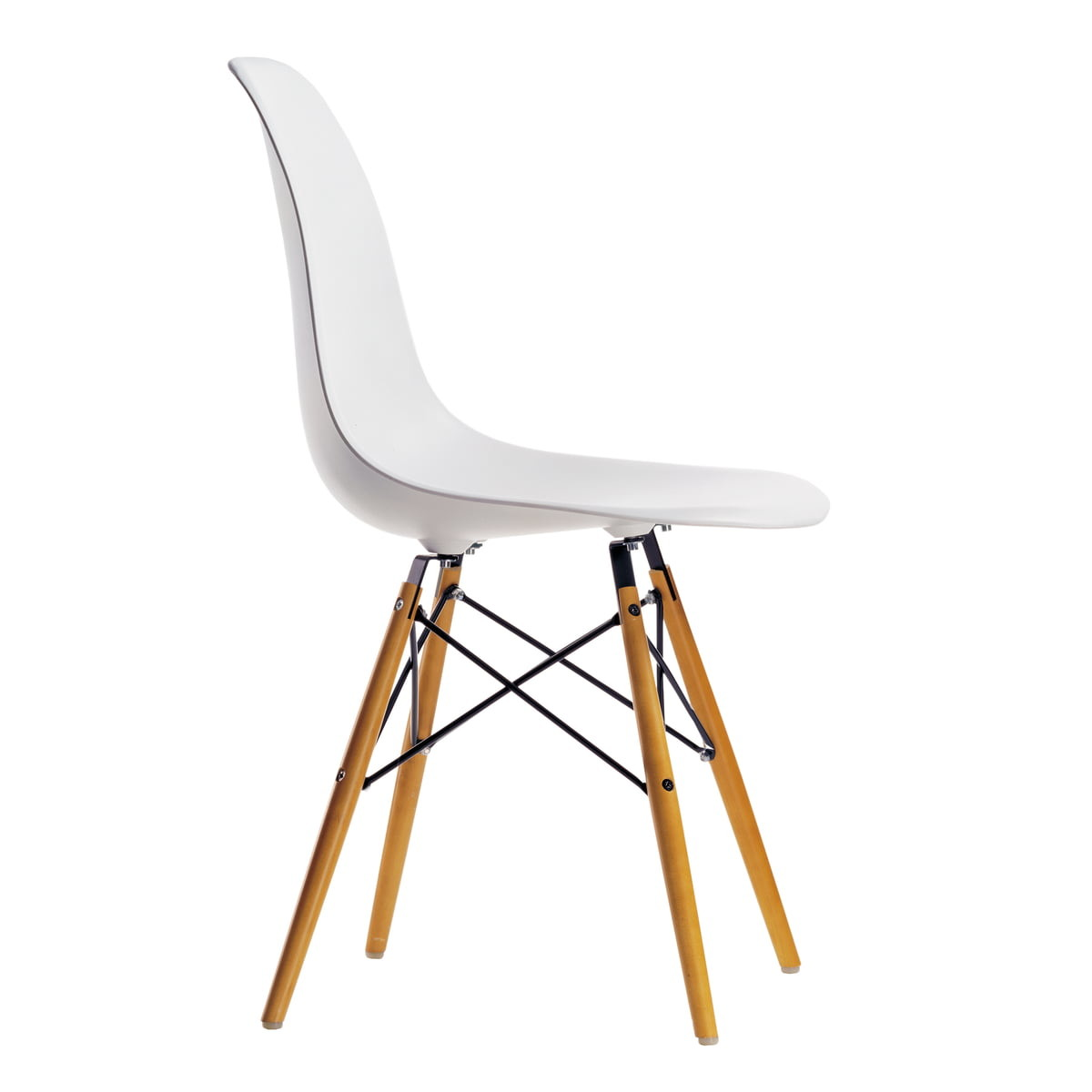 Eames Plastic Side Chair DSW Weiss 01