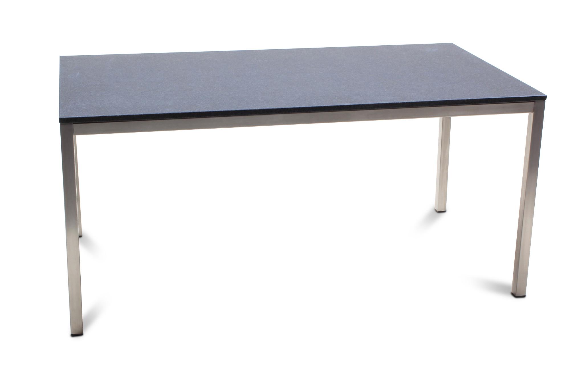 160×90cm Edelstahl Granittisch Gozo 05