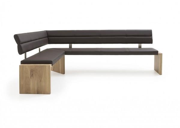 Eckbank SANO und 2 Stühle SILENT in Holz 01