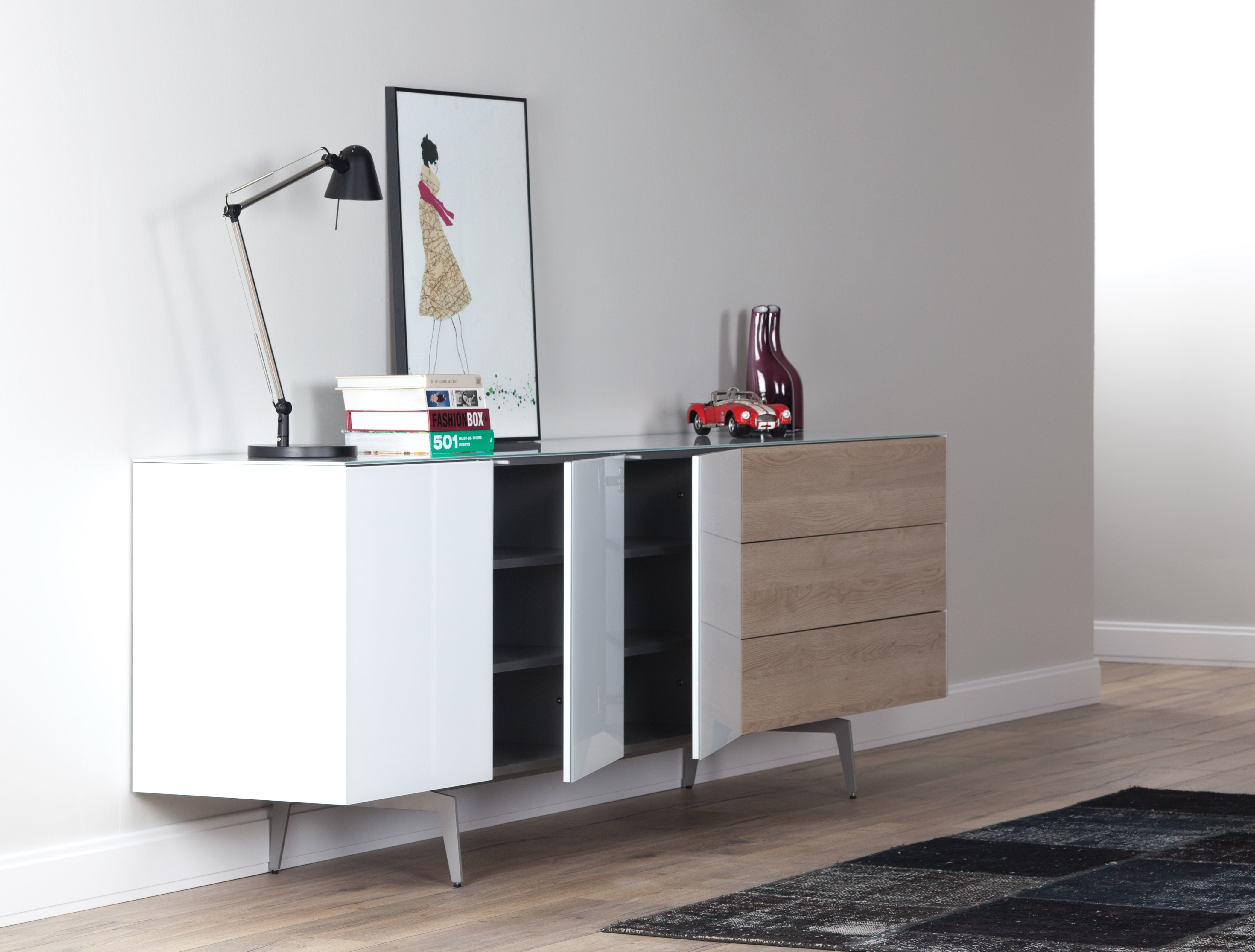 Sideboard Sonorous Elements, Kommode Kombination SB-K1, B=250cm / H=80cm 02