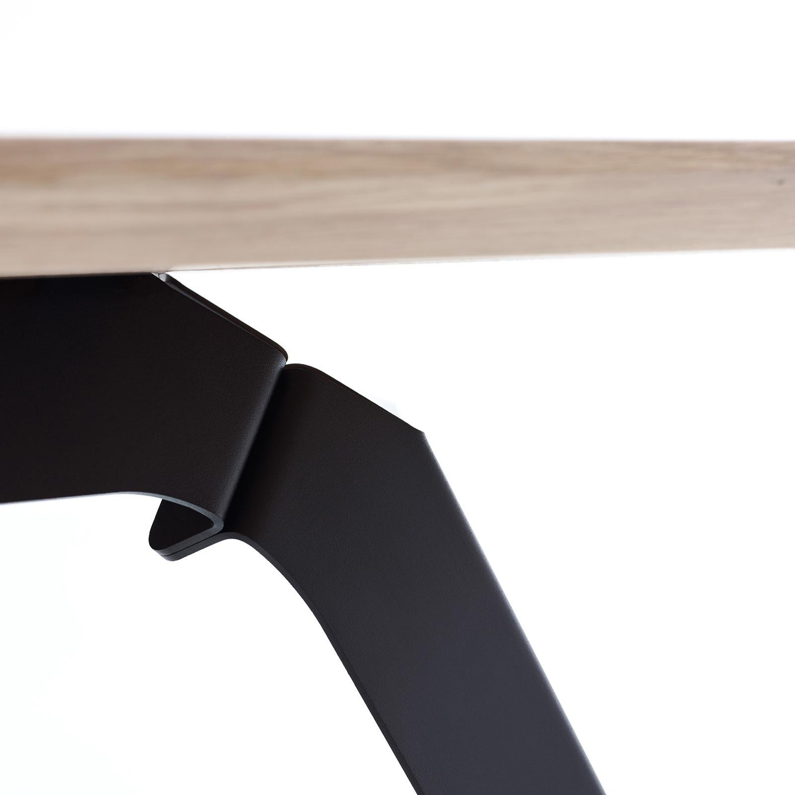 Esstisch Fold Eichenholz 200 x 95 / Gestell Stahl Schwarz  05