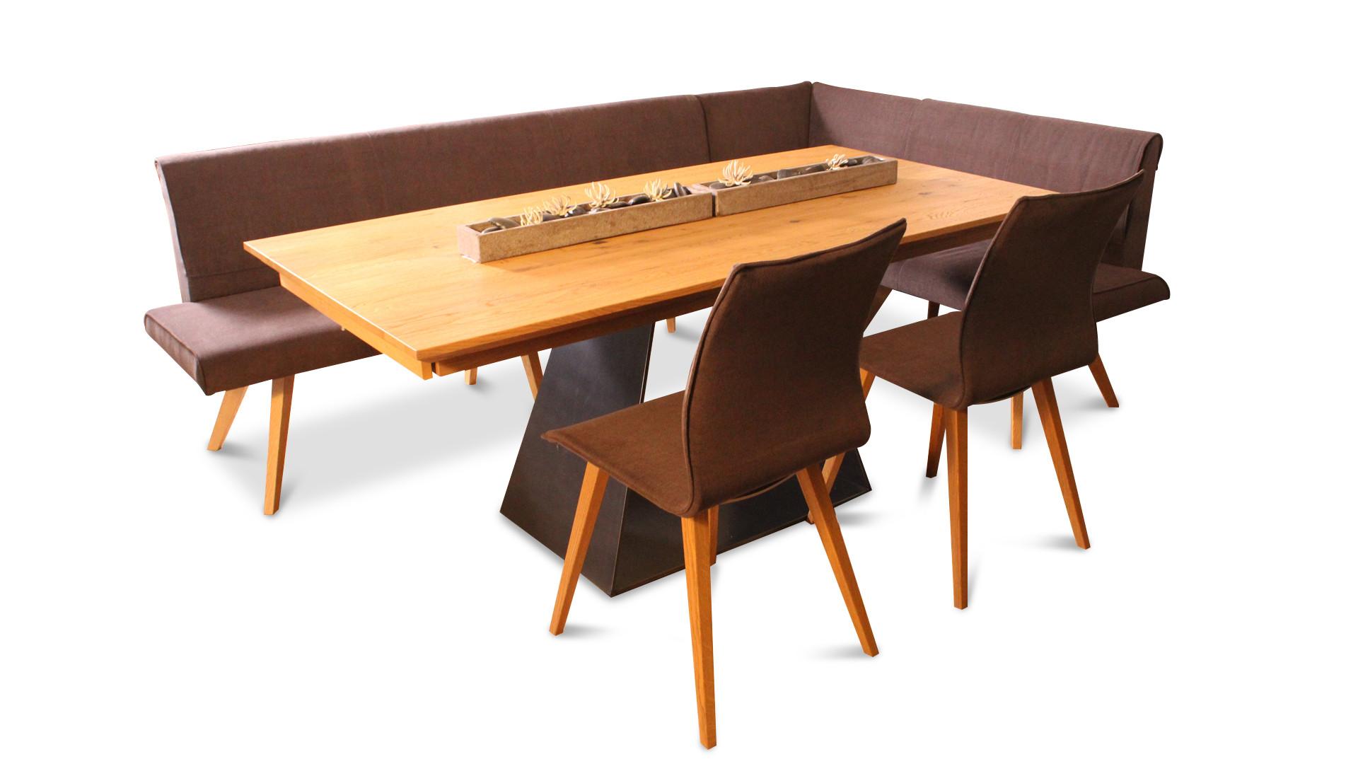 Esstisch mit Bank und 2 Stühlen 02