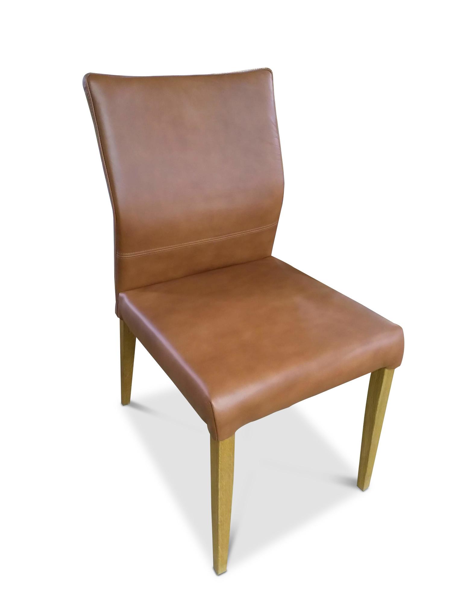 stuhl leder braun 4 stk solovivo. Black Bedroom Furniture Sets. Home Design Ideas