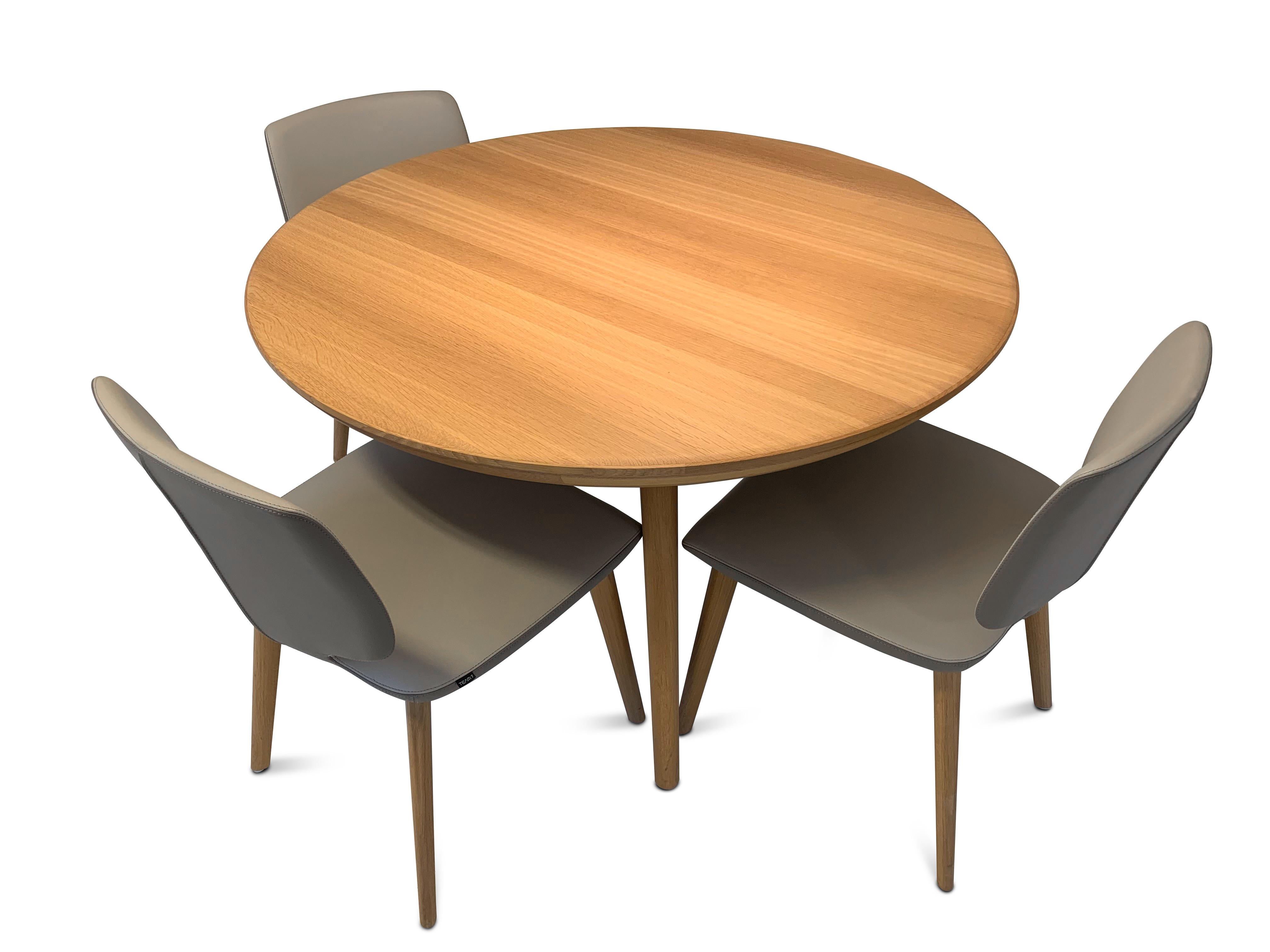 Esskombintation Tisch und Stühle (4 STK) Team7 09