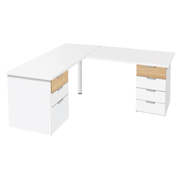 Schreibtisch mit Eckelement 03
