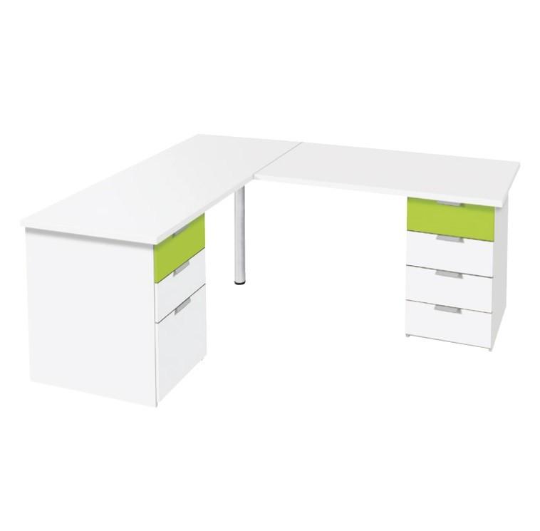 Schreibtisch mit Eckelement 04