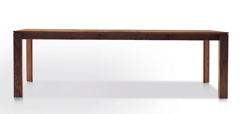 Auszugtisch Valbella Amerik. Nussbaum 160+80 x 95cm Lüönd 06
