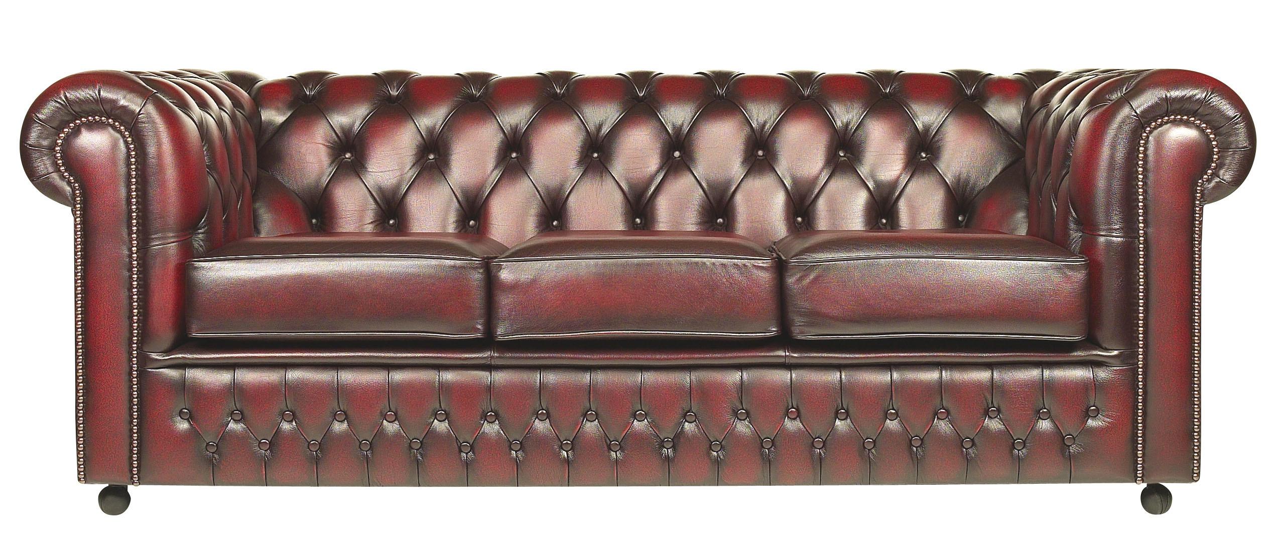 Original Chesterfield 3er Sofa Conventry 06