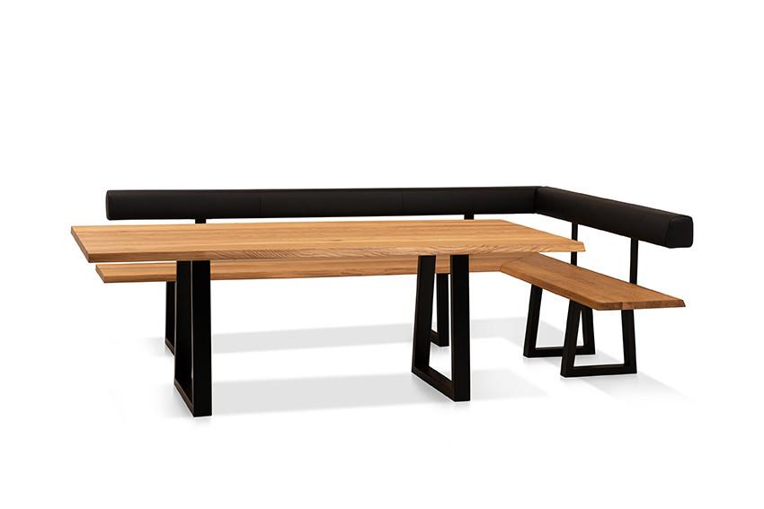 Esstisch mit Ecksitzbank Arogno Ast-Eiche 220 x 100 cm Lüönd 08
