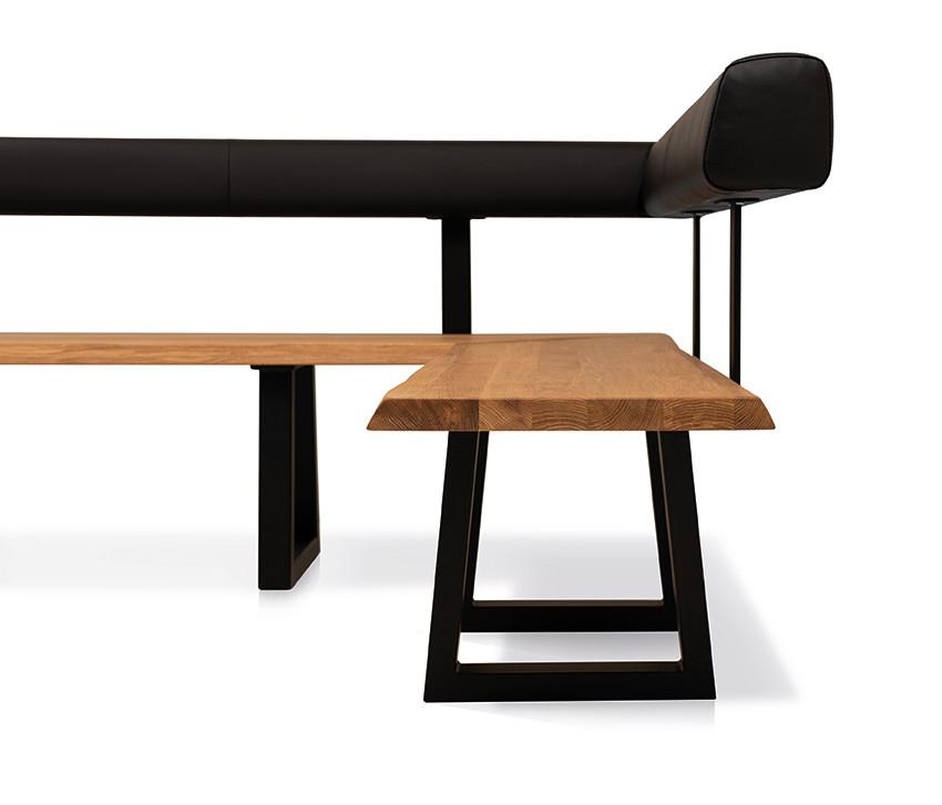 Esstisch mit Ecksitzbank Arogno Ast-Eiche 220 x 100 cm Lüönd 01
