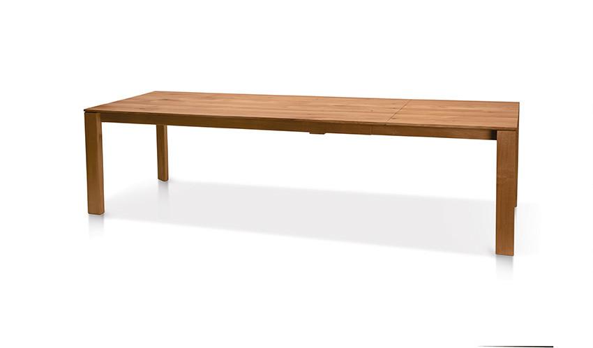 Auszugtisch Valbella Ast-Eiche 160+80 x 95cm Lüönd 03