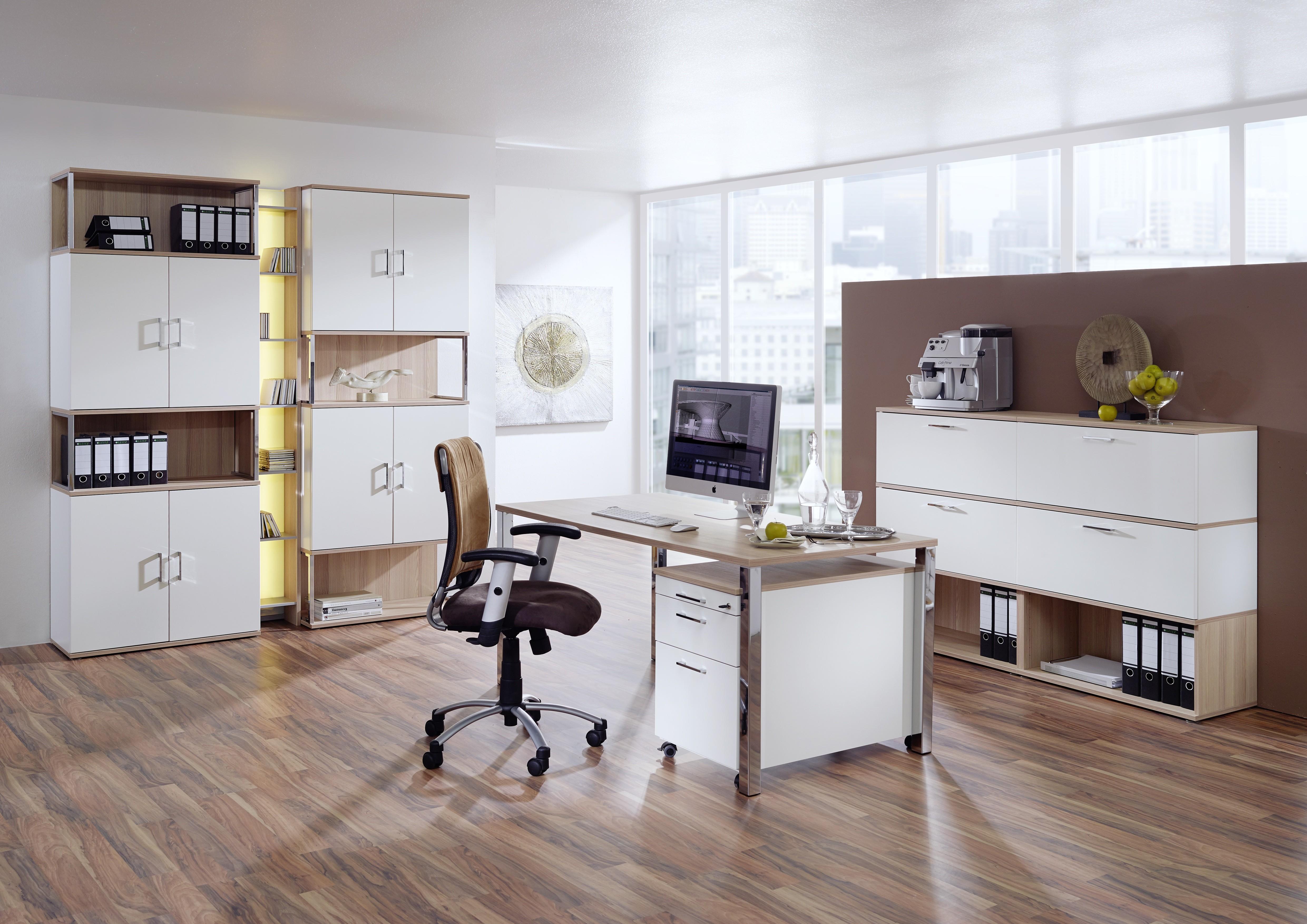 Home-Office Paket Nr. 1 mit elektrisch höhenverstellbaren Schreibtisch 04
