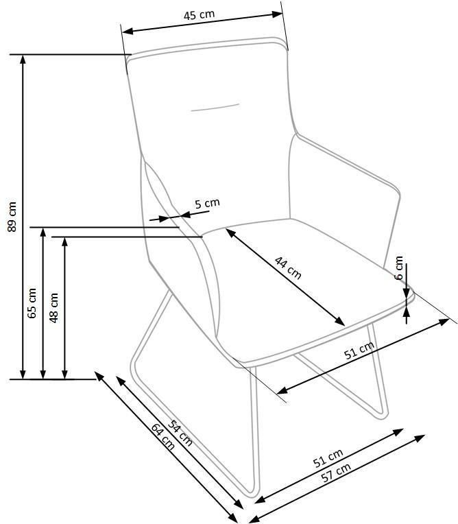 Stuhl SID mit Armlehnen moderner Design 01