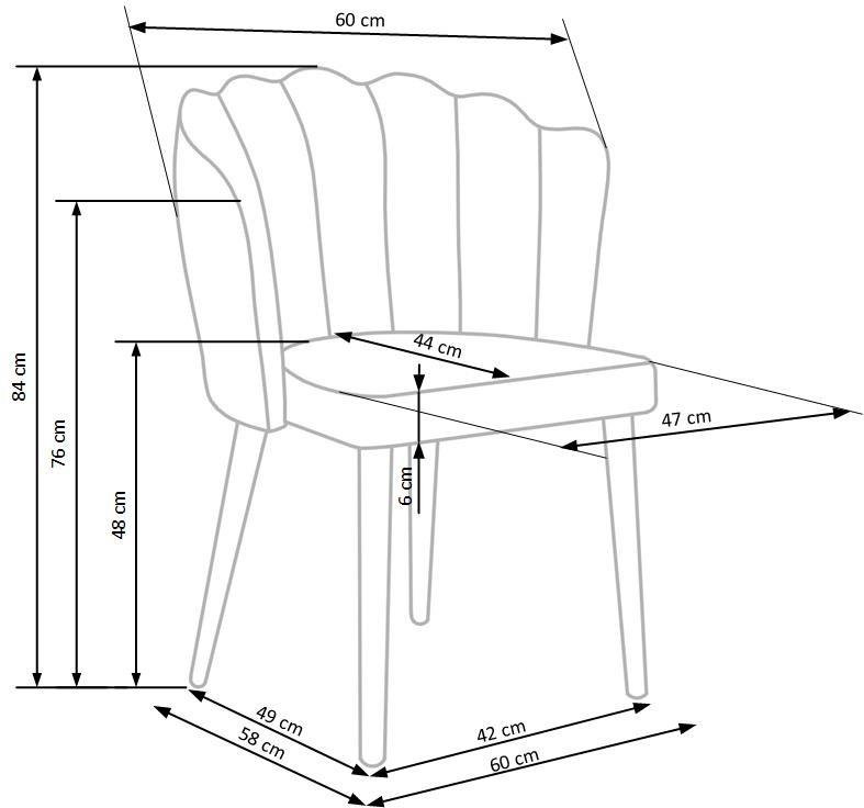 Samt Sessel-Stuhl Embos 04