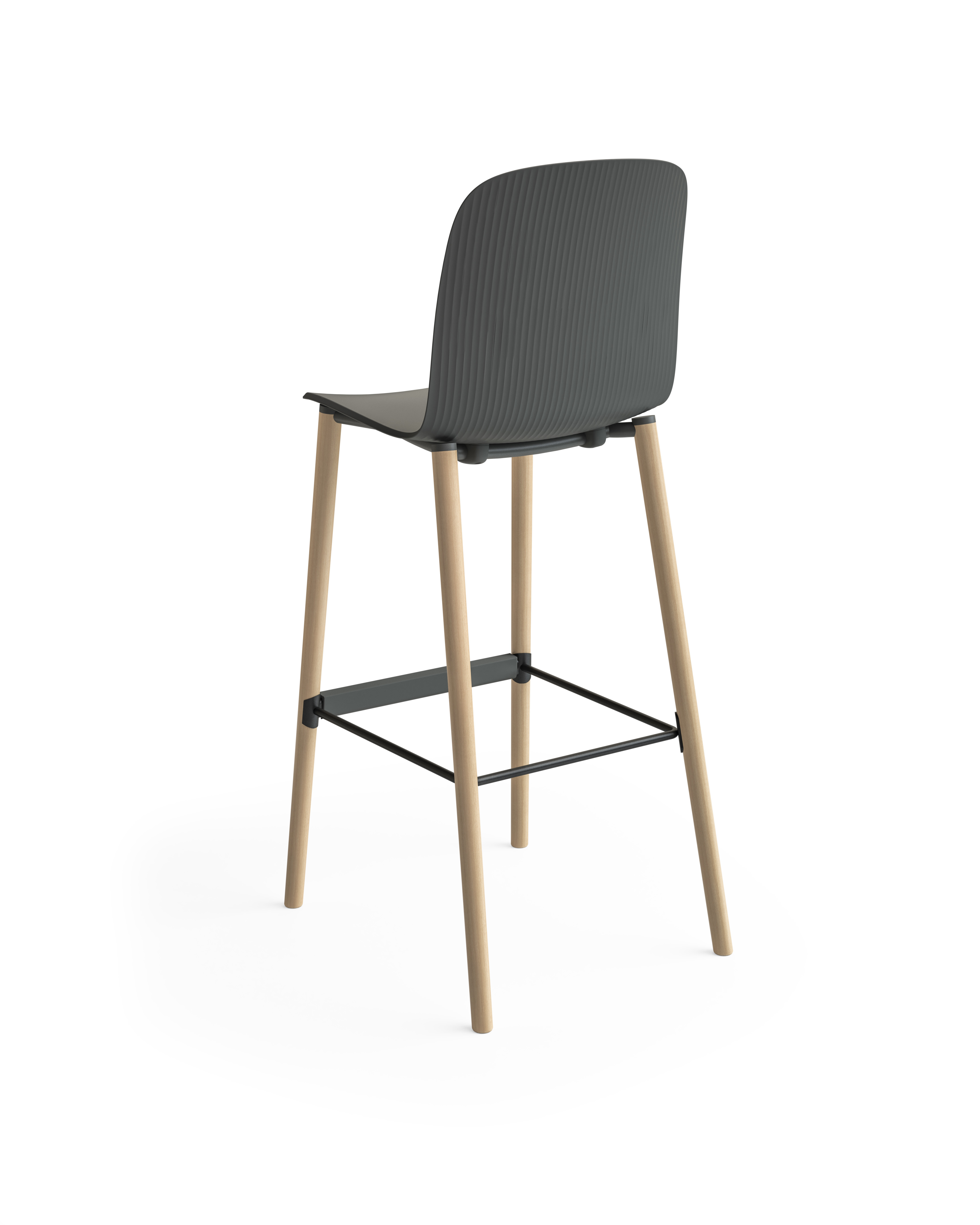 Tabouret de bar Cavatina de Steelcase - 4 pieds 02