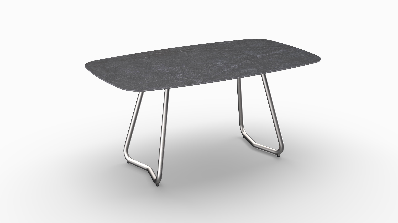 Gartentisch JURA (Tischgestell Edelstahl) 01