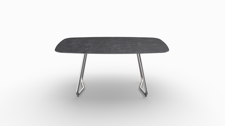 Gartentisch JURA (Tischgestell Edelstahl) 02