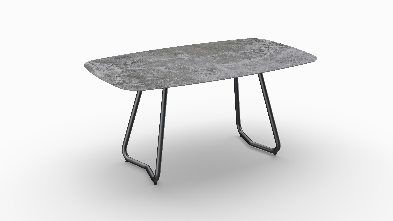 Gartentisch JURA (Tischgestell Stahl eisengrau, Tischplatte Orix) 01