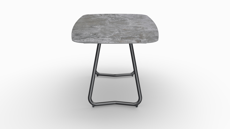 Gartentisch JURA (Tischgestell Stahl eisengrau, Tischplatte Orix) 03