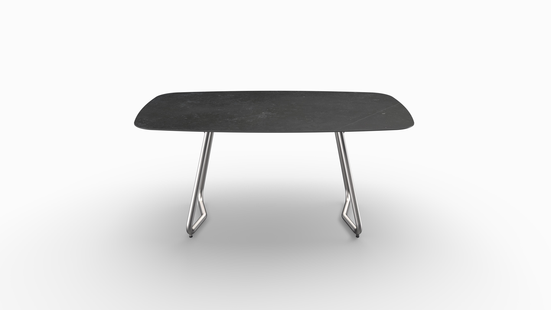 Gartentisch JURA (Tischgestell Edelstahl, Tischplatte Fossil) 02