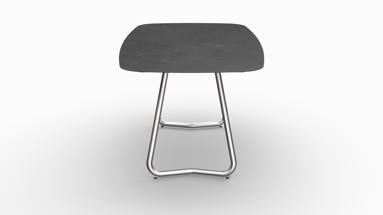 Gartentisch JURA (Tischgestell Edelstahl, Tischplatte Fossil) 03
