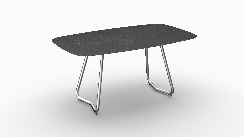 Gartentisch JURA (Tischgestell Edelstahl, Tischplatte Fossil) 01