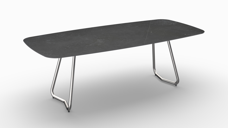 Gartentisch JURA (Tischgestell Edelstahl, Tischplatte Fossil) 06