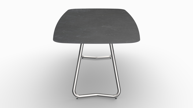 Gartentisch JURA (Tischgestell Edelstahl, Tischplatte Fossil) 08