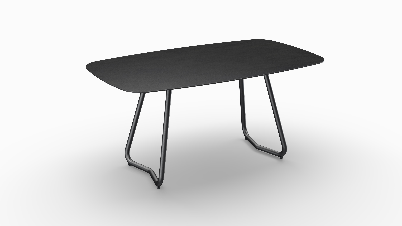 Gartentisch JURA (Tischgestell Stahl eisengrau, Tischplatte Sirius) 01