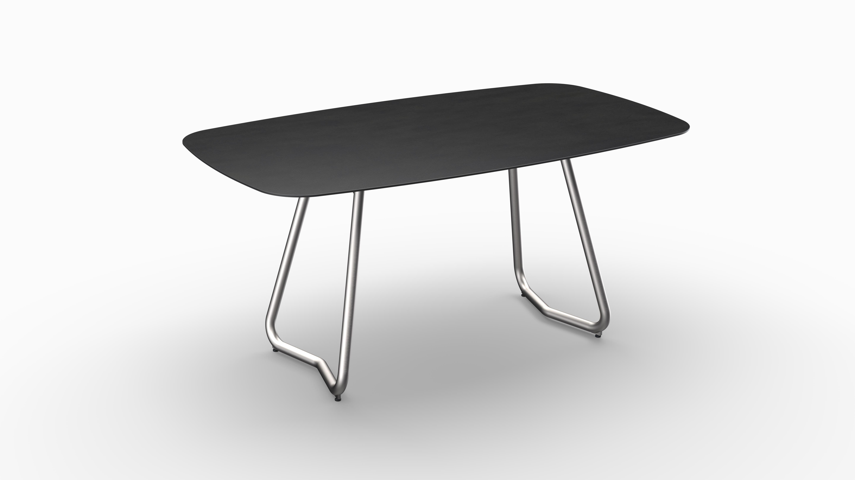 Gartentisch JURA (Tischgestell Edelstahl, Tischplatte Sirius) 01