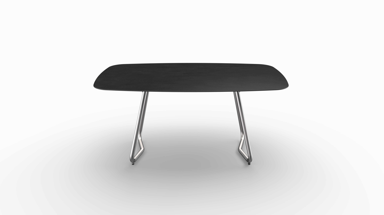 Gartentisch JURA (Tischgestell Edelstahl, Tischplatte Sirius) 02