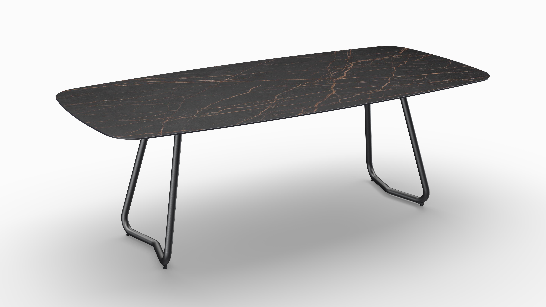 Gartentisch JURA (Tischgestell Stahl eisengrau, Tischplatte Laurent) 06