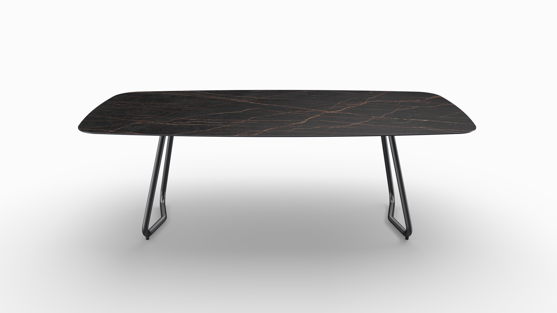 Gartentisch JURA (Tischgestell Stahl eisengrau, Tischplatte Laurent) 07