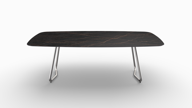 Gartentisch JURA (Tischgestell Edelstahl, Tischplatte Laurent) 06