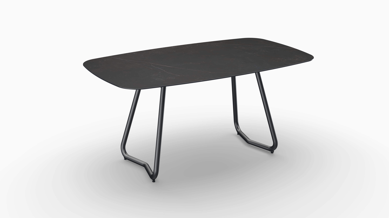 Gartentisch JURA (Tischgestell Stahl eisengrau, Tischplatte Kelya) 01