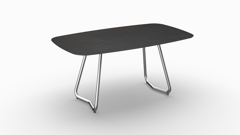 Gartentisch JURA (Tischgestell Edelstahl, Tischplatte Kelya) 01
