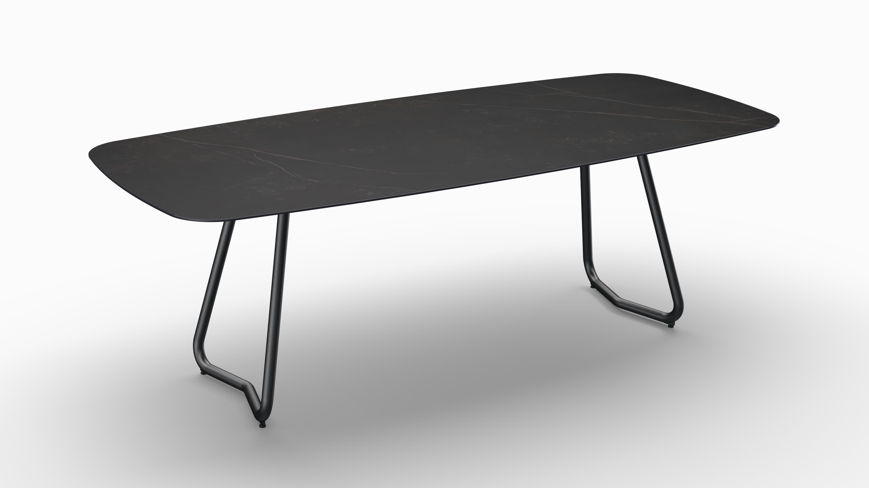 Gartentisch JURA (Tischgestell Stahl eisengrau, Tischplatte Kelya) 06