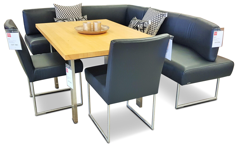 Eckbank, Tisch und 2 Stühle 07